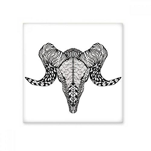 Lange hoorns Antelope Dier Portret Schets Keramische Bisque Tegels Badkamer Decor Keuken Keramische Tegels Wandtegels S