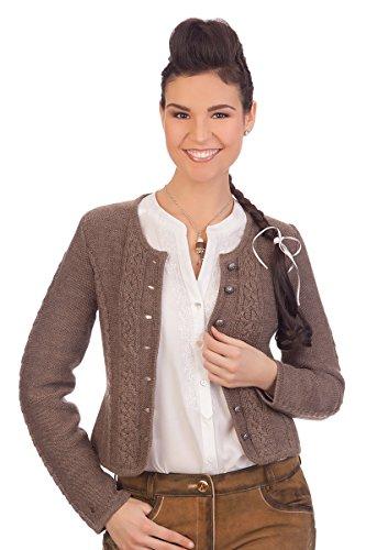 Spieth & Wensky Damen Trachten Strickjacke - BONN - nuß, wollweiß, Größe XL
