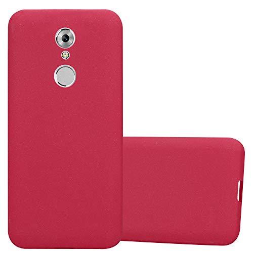 Cadorabo Funda para ZTE Axon 7 Mini en Frost Rojo - Cubierta Proteccíon de Silicona TPU Delgada e Flexible con Antichoque - Gel Case Cover Carcasa Ligera