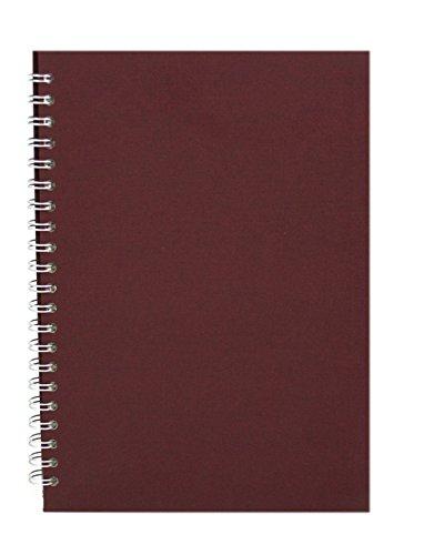 Pink Pig aubergine A4 Skizzenbuch 150gsm säurefrei weißes Papier 70 Seiten (35 Blätter)