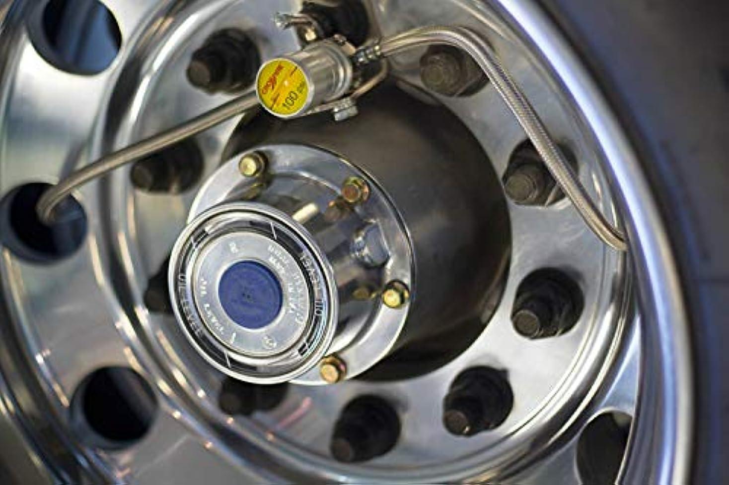 セーブ最少楕円形Dual Dynamics Crossfire タイヤ圧力イコライザー ホースのTMPSポート付き 100 PSI CF100STABT