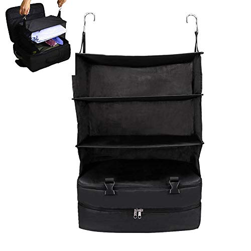 N / A Portable Hanging Travel Shelves Bag, Pack Gear Suitcase Organizer, Storage Large Capacity, Save Room in Suitcases, Reduce Wrinkles, for Go out Carry