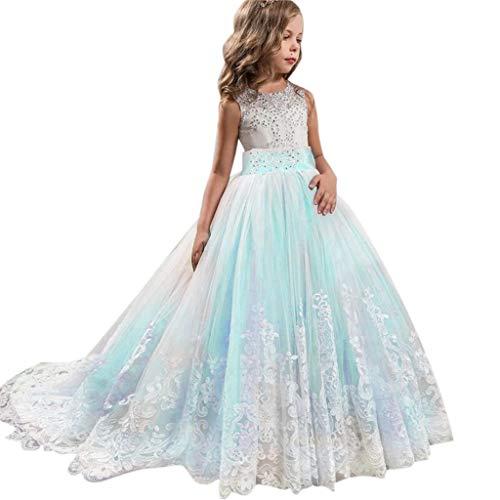 Hawkimin_Babybekleidung Hawkimin Mädchen Prinzessin Kleid Spitze Pageant Tutu Tüll Kleid Party Brautkleid