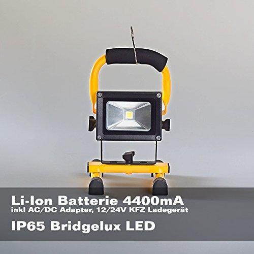 LED accuschijnwerper 10W wit licht schijnwerper werklamp bouwlamp
