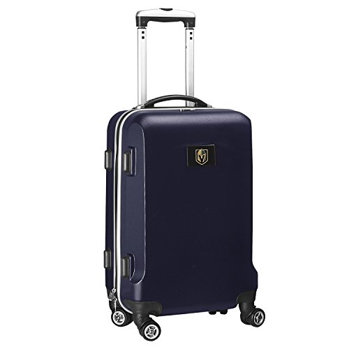 Why Choose Denco NHL Vegas Golden Knights Carry-On Hardcase Luggage Spinner, Navy