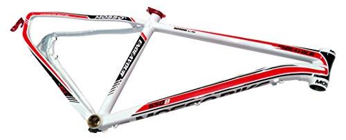 "Mosso MTB 7519 XC - Cuadro, Color Blanco/Rojo, Talla 16"""