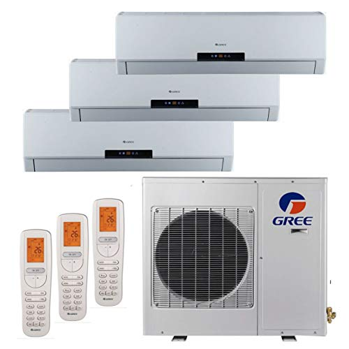 Gree MULTI24BNeo301-24,000 BTU +Multi Tri-Zone Wall Mount Mini Split A/C Heat Pump 208-230V (9-9-12) (A/C & Heater)