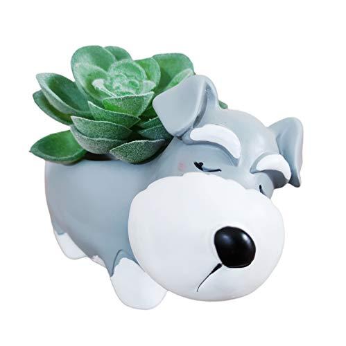 Cuteforyou Cute Animal Schnauzer Shaped Cartoon Home Decoration Succulent Air Plant Holder Flower...