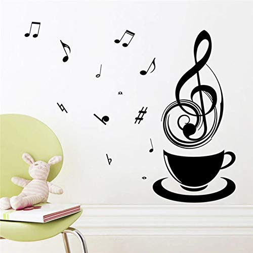 Relájese música taza de té taza de café decoración etiqueta de la pared oficina pública tienda de alimentos cocina etiqueta del hogar mural de moda