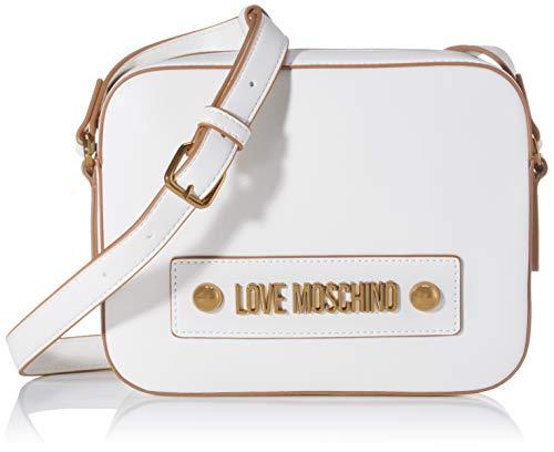 Love Moschino Jc4027pp1a, Borsa a Tracolla Donna, Bianco (Bianco), 6x17x22 cm (W x H x L)