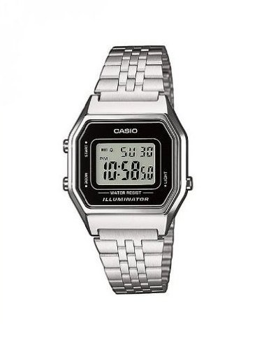 Casio Collection LA680WEA-1EF Reloj de pulsera para Mujer, Negro/Gris
