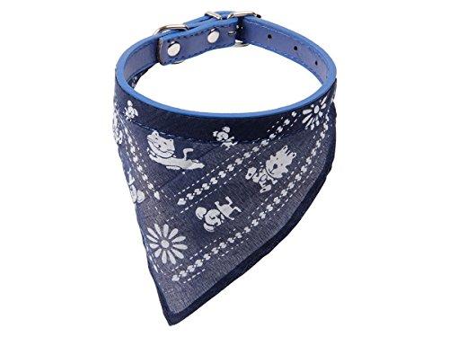 Alsino Hundehalstuch Bandana Halstuch Rot Blau Tuch Hund Dreieckstuch Hundehalsband Verstellbar mit Motiv, Variante wählen:P874026 blau Gr. L