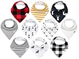KiddyStar Bandana Baby Bib Set, Drool Bibs for Boys and Girls, Baby Shower Gift for Newborns, Organic Cotton, Soft and Absorbent, Stylish and Unisex, Drooling and Teething, Bandana Bibs (Bandana Bibs)