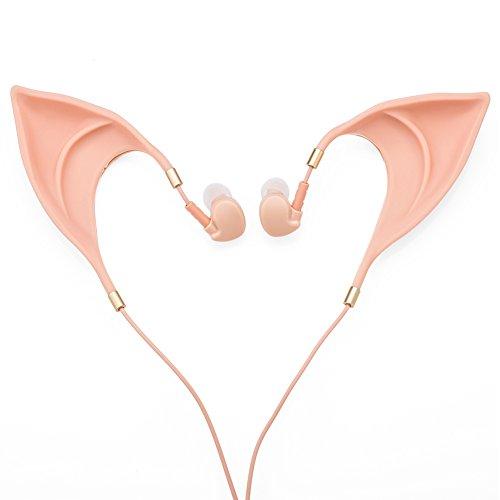Jinserta In-Ear-Kopfhörer mit Elfenohren, 3,5 mm, für Smartphones, MP3/4, iPhone, Samsung