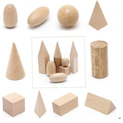 Case Cover Holz Geometrische Körper 3-D-Formen Montessori Learning Education Blocks Spielzeug Ressourcen für Schule Startseite Blocks