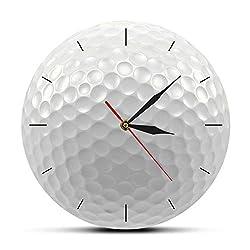 xutingting Wall Clocks Golf Ball Round Frameless Wall Clock Silent Non Ticking 3D Vision Decorative Wall Watch Sports Golf Club Wall Art Golfers Gift