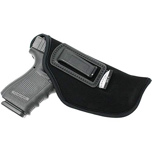 Black Scorpion BSG15N Speedy Neoprene or Nylon IWB Universal Holster Concealed Carry-Fits all Glock 17,22,20,21/S&W MP full,Sigma full/Beretta 92,PX-4Storm/Sig P226/Ruger SR9,SR40-All Similar Handguns