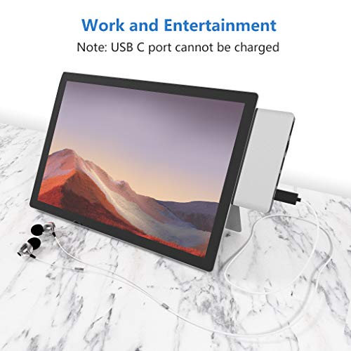 Surface Pro 7 Hub Docking Station mit 4K HDMI Adapter+100M Ethernet LAN+ USB C Audio & Data Transfer Port +USB 3.0 * 2+SD Kartenleser Converter Combo Adaptor für Microsoft Surface Pro 7