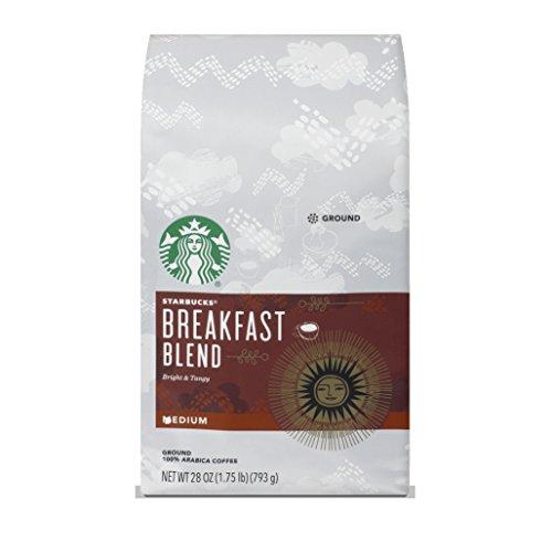 Starbucks Breakfast Blend Medium Roast Ground Coffee 28 Ounce Pack of 1 bag