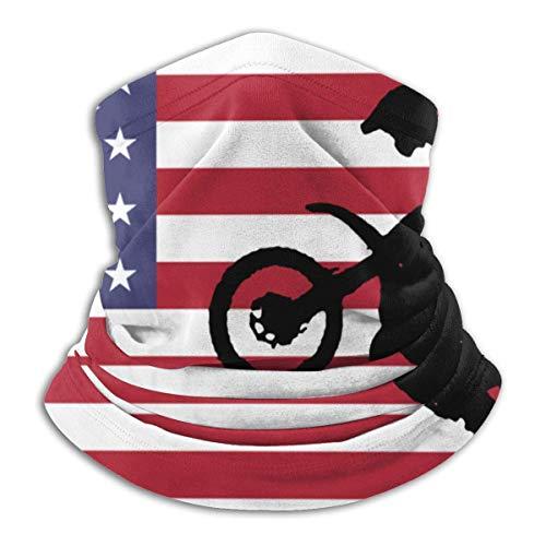 Bklzzjc Neck Gaiter Warmer Flag USA Sign Motocross Neck Warmer School Windproof Men Women Fishing Face Cover Headwear