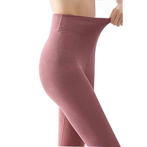 Leggings Térmicas Mujer Invierno Mujeres Altas leggings de cintura, forro de terciopelo Alto Cintura de invierno Leggings cálidos Velvet Leggings Pantalones ( Color : Bean paste , Size : XX-Large )
