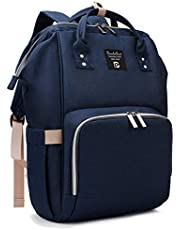 Pomelo Best plecak na akcesoria do przewijania niemowląt - stylowy plecak z podkładką do przewijania, wielofunkcyjny, odporny na działanie wody, duża pojemność, plecak na podróż