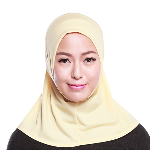 GladThink Womens Muslim Mini Hijab Scarf With More colors Beige