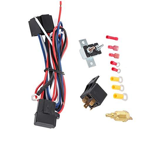 Shipenophy Termostato Radiador Ventilador de refrigeración Kit de relé Interruptor de Temperatura Modificado Accesorio de Montaje de plástico para automóvil para su vehículo para Accesorios de