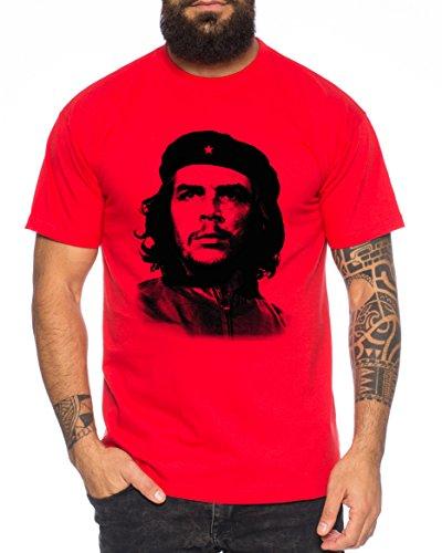 maglia che guevara WhyKiki Che T-Shirt da Uomo Cuba Rivoluzione Guevara Che Guevara Maglietta da Uomo Cuba Comandante