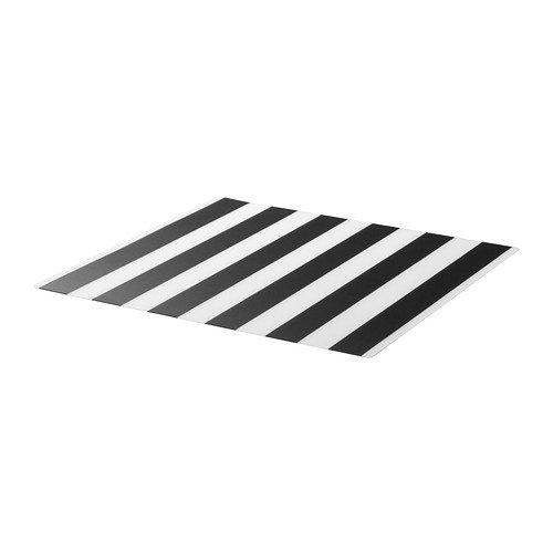 IKEA(イケア) LJUDA プレースマット ストライプ ブラック ホワイト