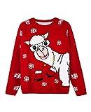 Ugly Christmas Sweater Lama mit Handschuhe