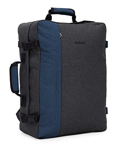 blnbag M3 – Cabin Size Backpack, Ryanair Handgepäck Rucksack, Reiserucksack mit Laptopfach 17 Zoll, bequemes Packen wie Koffer, 35 Liter
