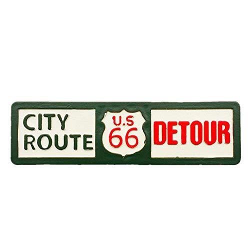 Hqiyaols Souvenir Ruta de la Madre Ruta 66 EE. UU. América Refrigerador 3D Imán de Nevera Viaje Ciudad Recuerdo Colección Decoración Tablero Blanco Etiqueta Resina