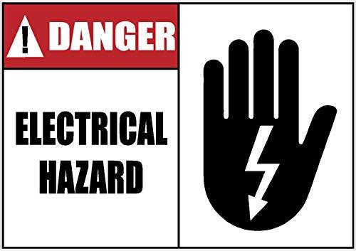 Safety | OSHA | Danger Electrical Hazard | Warning | Decal | Sticker | Shock Hazard | Made in Texas USA | 1.75 x 2.50