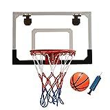 Canasta para Baloncesto Mini aro de Baloncesto para niños, se Puede Instalar en la Puerta/Pared/Oficina del Dormitorio, el Juguete de Baloncesto Interior con Tablero a Prueba de roturas