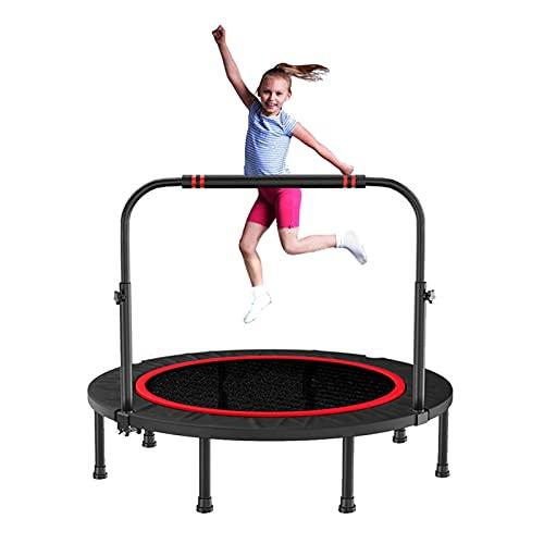 LKZL 40-Zoll-Kindertrampolin, Freizeit-Trampoline Mit Griff, Mini Faltbares Bungee Rebounder Trampolin für Spiel & Bewegung Indoor Oder Outdoor
