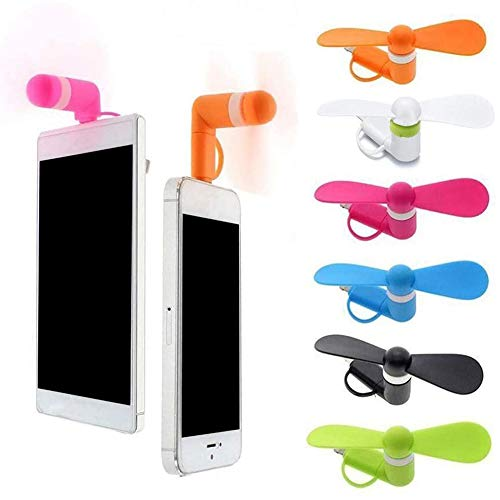 BESTZY Mini USB Phone Fan Portable 2 in1 Micro USB Fan for iPhone/iPad/Android Smartphones, 6 Pack
