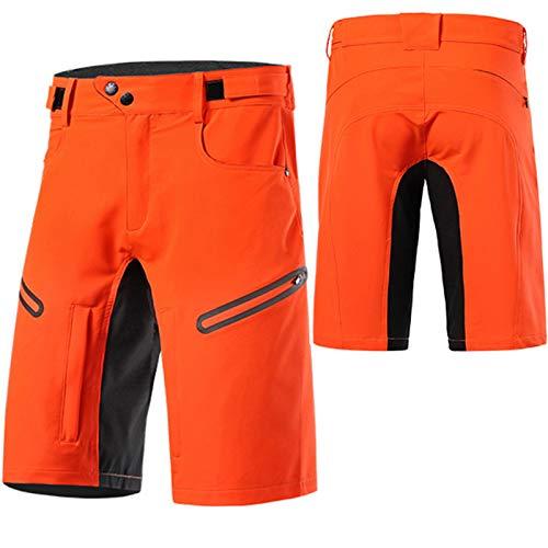 Culotes Ciclismo Hombre,Primavera y Verano Culotte Ciclismo Hombre,Transpirable Cómodo Pantalones Cortos de Ciclismo,para Correr Deportes al Aire Libre Pantalon Corto Montaña(Size:SG,Color:Naranja)