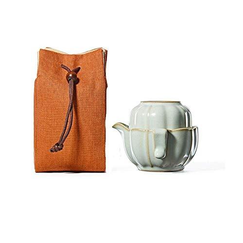 GUOCAO Portátil de Viaje Juego de té de Porcelana pequeña Calabaza Personal rápido de pasajeros Copa Aire Libre Viajes Family Office Cerámico