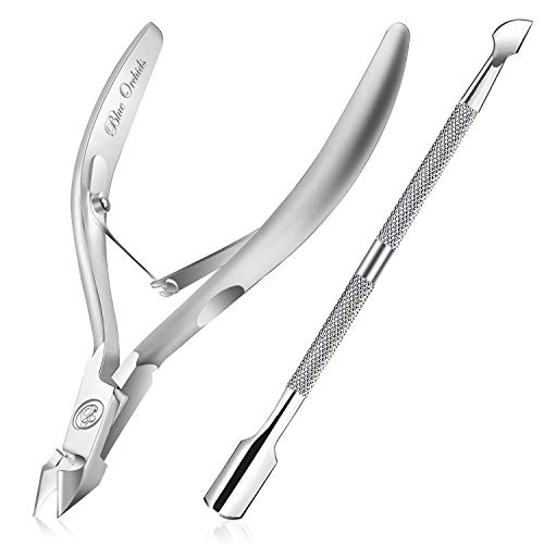 Cuticle Trimmer with Cuticle Pusher - Cuticle Remover Cuticle Nipper...