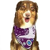 Aeykis Patrones vivos sin fisuras con mariposas violetas Mascotas Lavable Triángulo Baberos Bufandas Accesorios