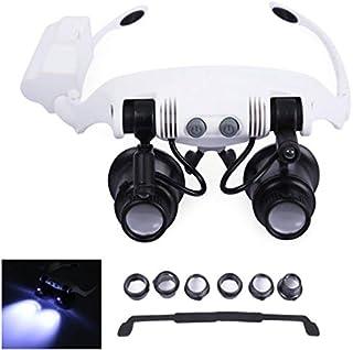 dfee083f54 Ligero y plegable diadema de diseño binoculars lupa gafas LED lupa con 2  LED de luz