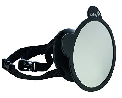 Safety 1st Rückspiegel - großer Spiegel für Kindersitze, Reboarder, Baby-Sitze im Auto, schwarz, 33110128
