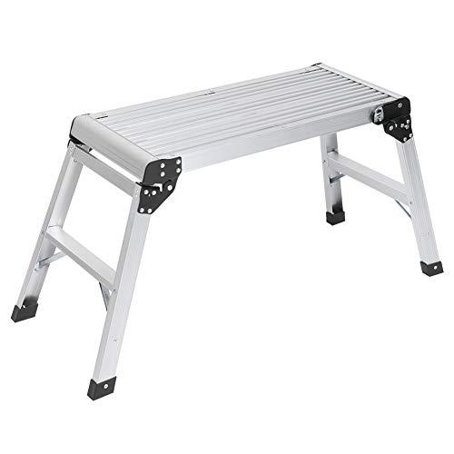 Banco plegable de aluminio con salto, taburete plegable, plataforma de trabajo multiusos,...