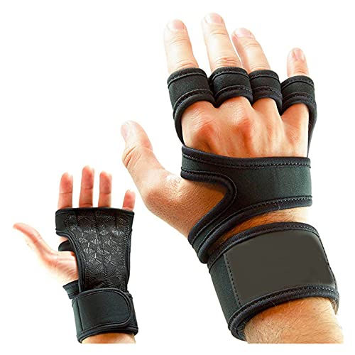 JinHongShop Gewichtheffen Fitnesshandschoenen Gel Volledige Palmbescherming Gym Workout Protector Handschoenen Vrouwen Mannen Training Power Lifting Equipment (Size : X-Large)