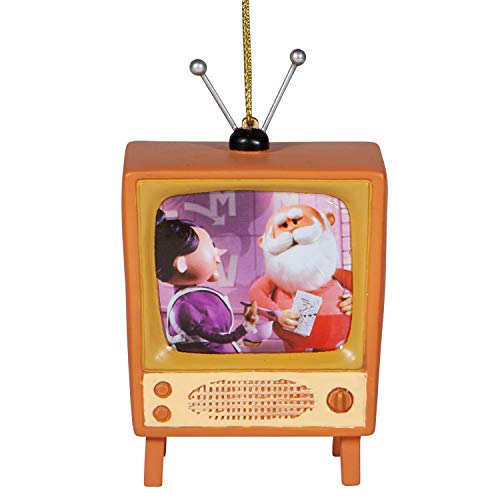 Department 56 Rudolph The Red-Nosed Reindeer Santa and Mrs. Claus TV Lit Hanging Ornament, 3.75 Inch, Brown