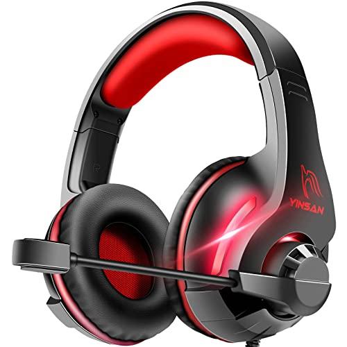 Cascos Auriculares, YINSAN Auriculares Gaming Estéreo da 3,5 mm Jack con Micrófono...
