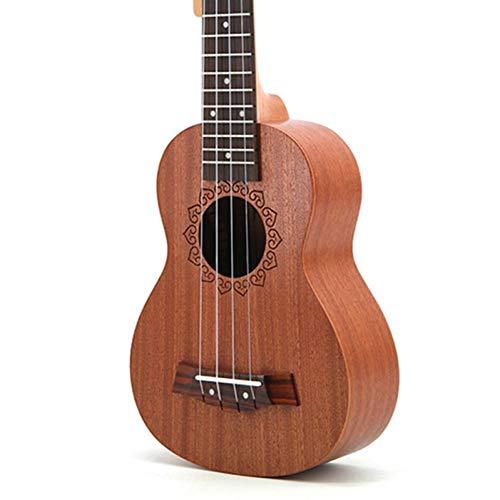 QLJ08 Ukelele soprano de 21 pulgadas 4 cuerdas Mini guitarra Sapele 15 trastes Ukelele Perilla cerrada Precio
