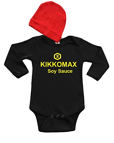 PandoraTees Soy Sauce Baby Bodysuit (Black, 6-12 Months)