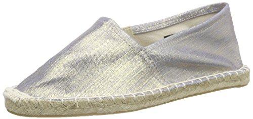 PIECES Damen HAISHA Espadrillos Denim Espadrilles, Silber (Silver Colour), 39